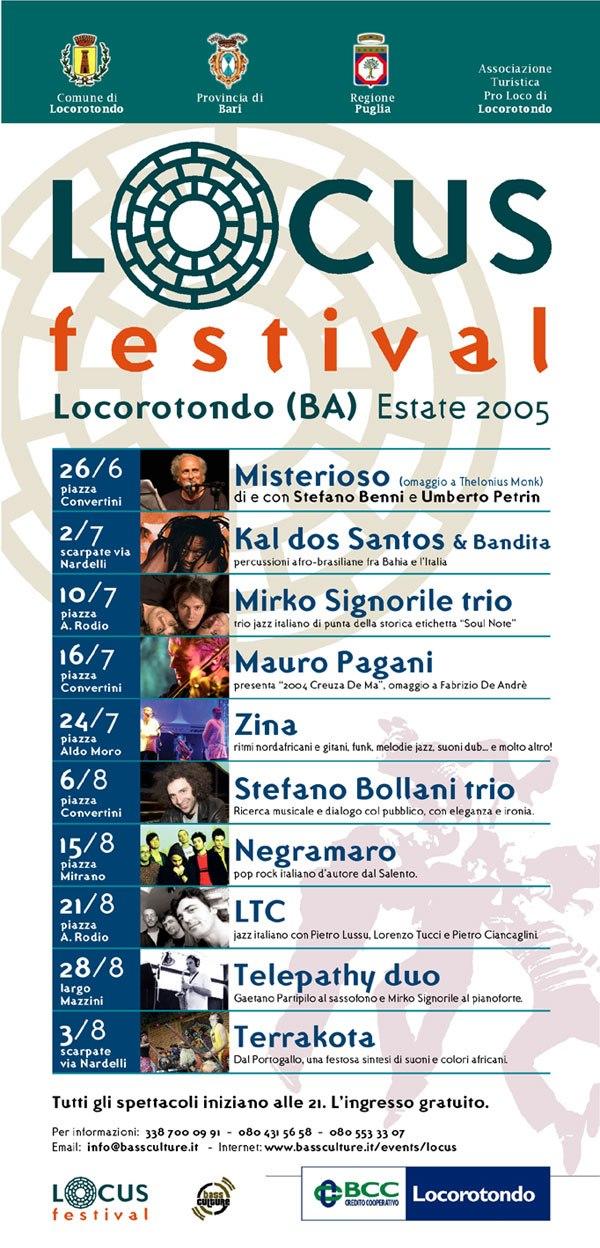 In questa edizione, il concerto previsto in locandina dei Terrakota, venne sostituito dai nezelandesi FAT FREDDY'S DROP in una delle loro prime esibizioni in Italia