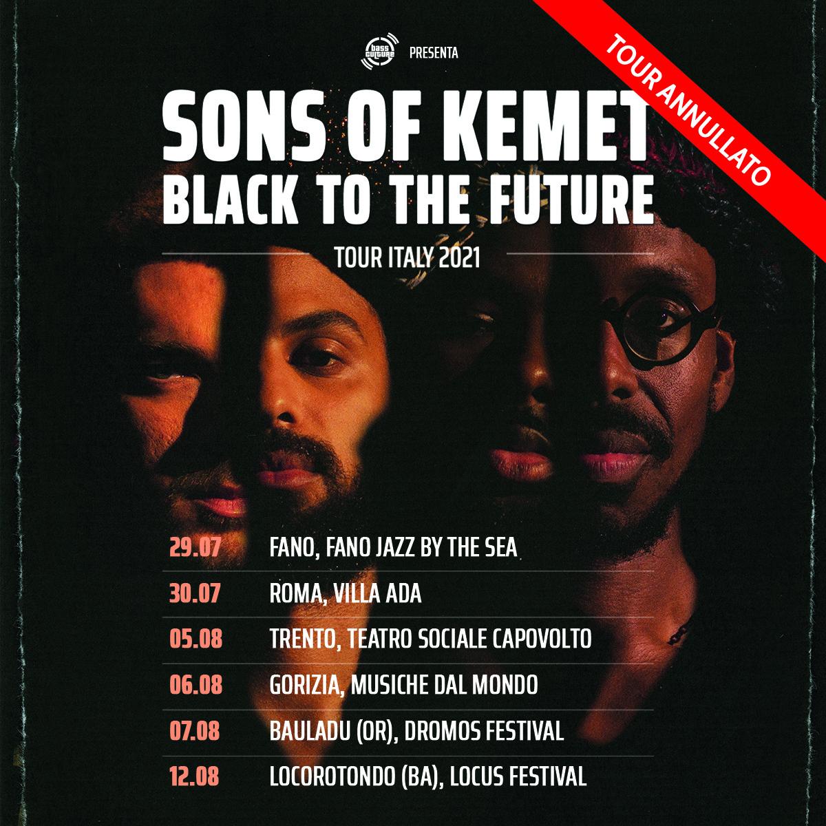 Cancellato lo show di Sons of Kemet al Locus, insieme a tutte le date italiane della band